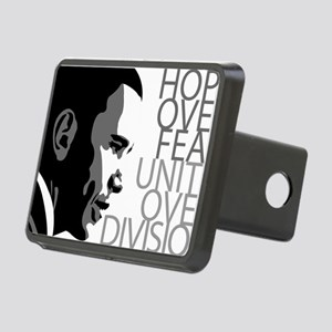 obama_over_division_grey Rectangular Hitch Cover