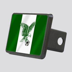 Nigerian Football Flag Rectangular Hitch Cover