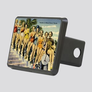 Retro Summer Beauties Rectangular Hitch Cover