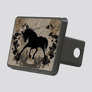 Black horse silhouette Hitch Cover