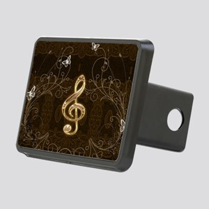 Music, clef with floral elements Hitch Cover