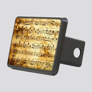 Classical Musical Notes Rectangular Hitch Cover
