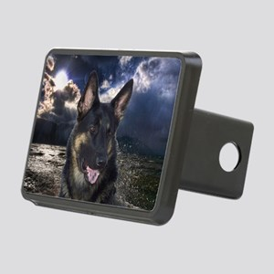 German Shepherd Ocean Rectangular Hitch Cover