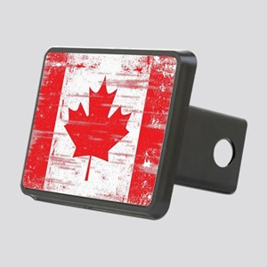 Vintage Canadian Flag  Rectangular Hitch Cover