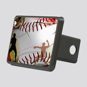 Baseball Compilation Rectangular Hitch Cover