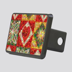 Heart Patchwork Lov... Rectangular Hitch Cover