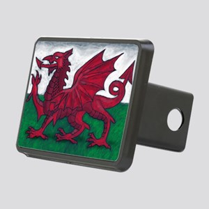 Wales Flag Rectangular Hitch Cover