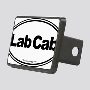 Lab Cab Black Rectangular Hitch Cover