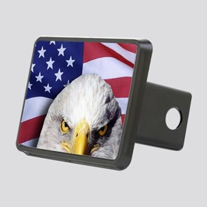 Bald Eagle Over American F Rectangular Hitch Cover