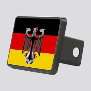 German Soccer Flag Rectangular Hitch Cover