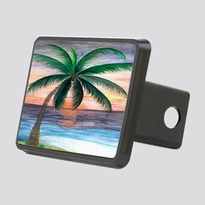Sunset palm Rectangular Hitch Cover