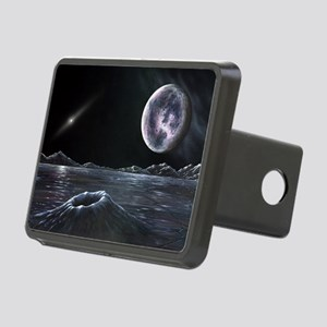 Pluto seen from Charon, ar Rectangular Hitch Cover
