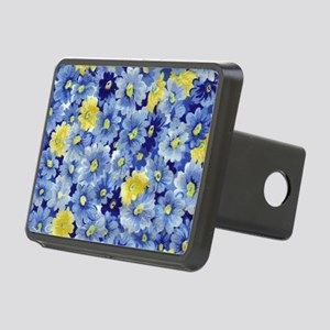 1.04_BLUE-DAISIES Rectangular Hitch Cover