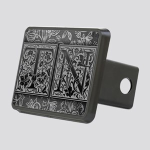 TN initials. Vintage, Flor Rectangular Hitch Cover