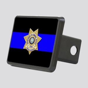 TDCJ Parole Thin Blue Line Rectangular Hitch Cover