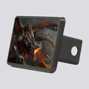 Dragon and Knight Rectangular Hitch Cover