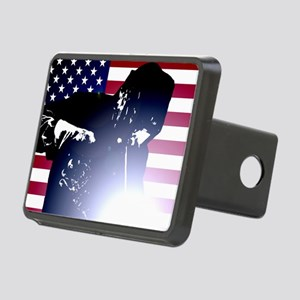 Welding: Welder & American Flag Hitch Cover