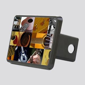 Guitar Photography Collage Rectangular Hitch Cover