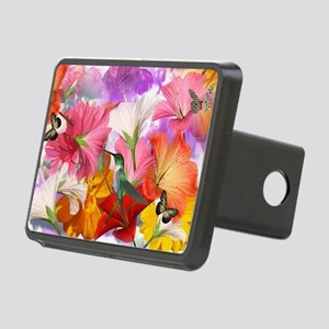 Hibiscus Butterflies Rectangular Hitch Cover
