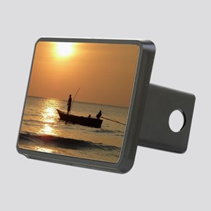 Fishing at Sunset Rectangular Hitch Cover