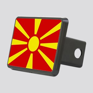 Flag of Macedonian Rectangular Hitch Cover