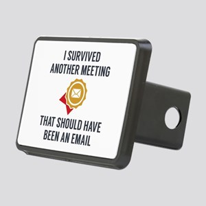 I Survived Another Meeting Rectangular Hitch Cover