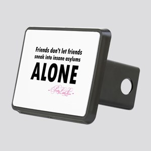Friends don't let friends Rectangular Hitch Cover