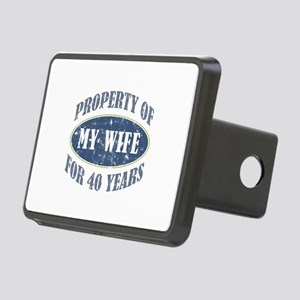 Funny 40th Anniversary Rectangular Hitch Cover