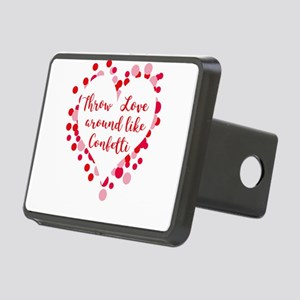 Throw Love around like Con Rectangular Hitch Cover