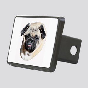 Sleepy Pug Rectangular Hitch Cover