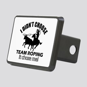 I Didn't Choose Team Ropin Rectangular Hitch Cover