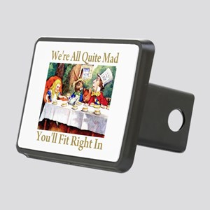 WE'RE ALL QUITE MAD Rectangular Hitch Cover