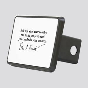 JFK Inaugural Quote Rectangular Hitch Cover