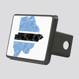 Botswana Flag And Map Rectangular Hitch Cover