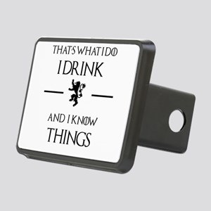 I drink and I know things Rectangular Hitch Cover