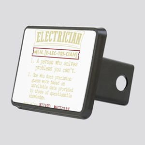 Electrician Funny Dictiona Rectangular Hitch Cover