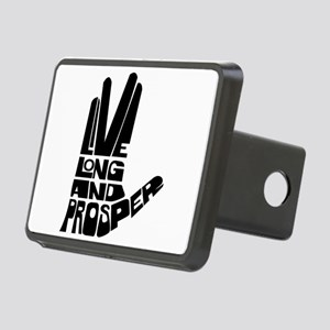 live long and prosper Rectangular Hitch Cover