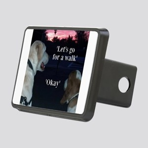 Walking Dogs Rectangular Hitch Cover