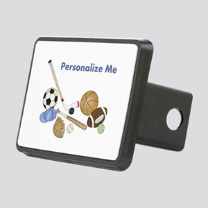 Personalized Sports Rectangular Hitch Cover