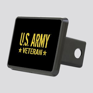 U.S. Army: Veteran (Gold S Rectangular Hitch Cover