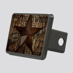 primitive  texas lone star Rectangular Hitch Cover