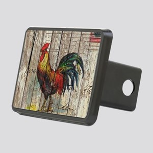 rustic farm country rooste Rectangular Hitch Cover
