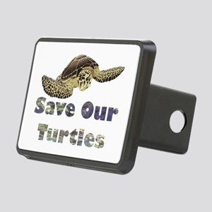 save-our-turtles Rectangular Hitch Cover