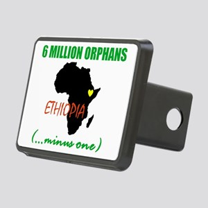 6 MILLION ORPHANS_grn Rectangular Hitch Cover