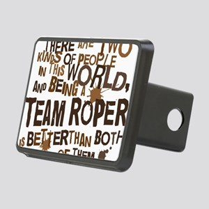 team_roper_brown Rectangular Hitch Cover