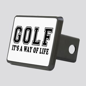 Golf It's A Way Of Life Rectangular Hitch Cover
