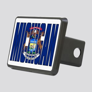 Michigan Flag Rectangular Hitch Cover