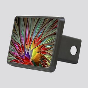 Fractal Bird of Paradise W Rectangular Hitch Cover