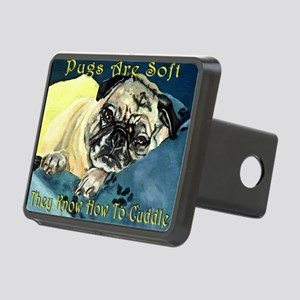 Pugs Are Soft Rectangular Hitch Cover