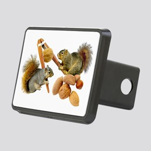 Squirrels Cracking Nuts Rectangular Hitch Cover